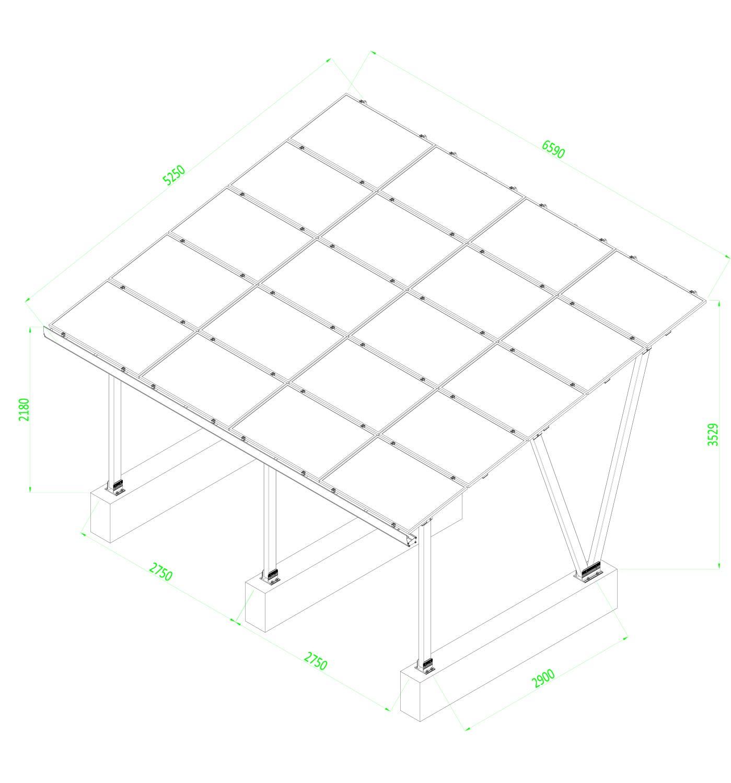 Solardach Typ 3