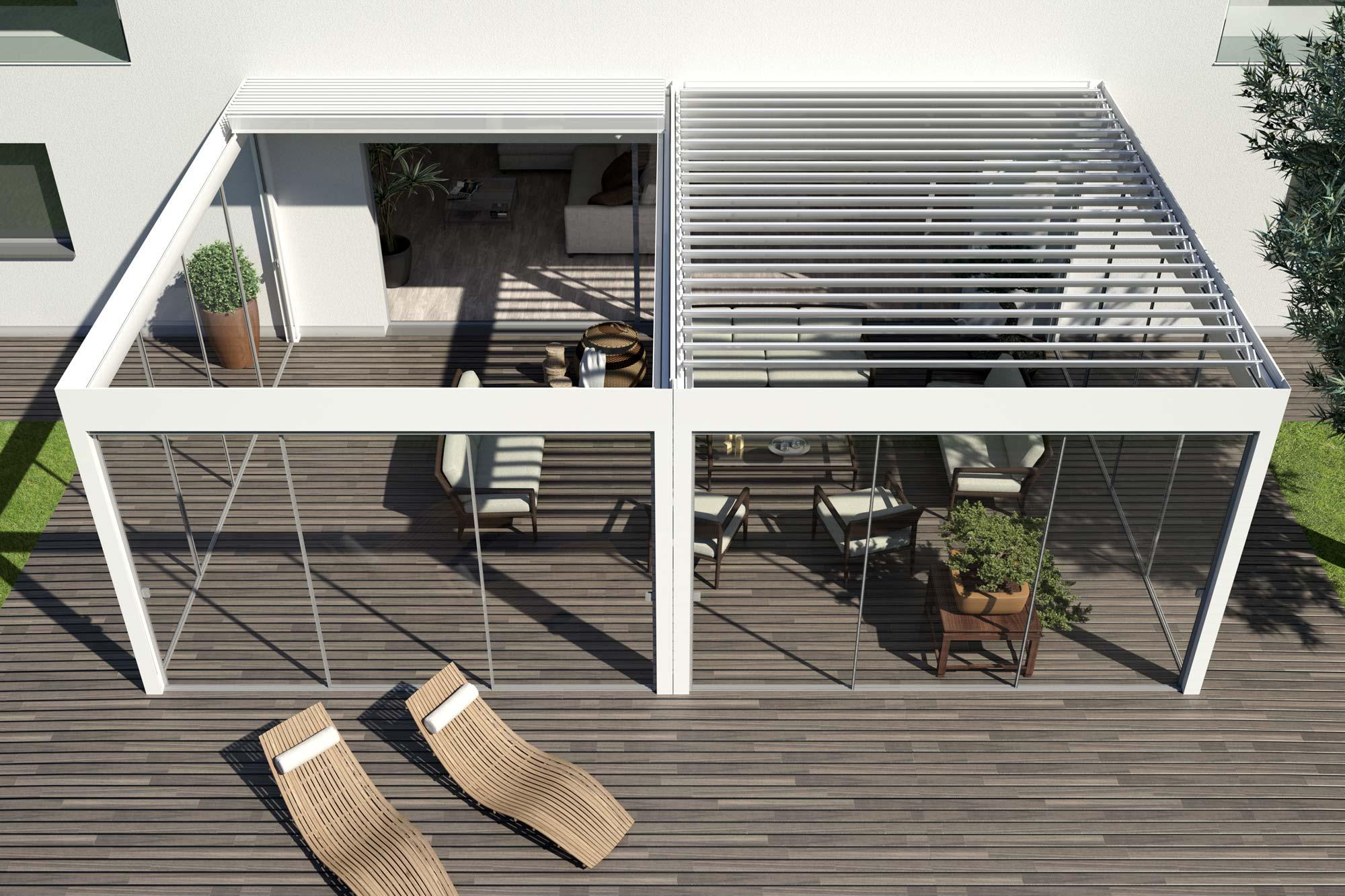 Lamellen-Terrassendach
